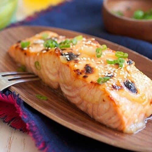 Dans steaks salmon